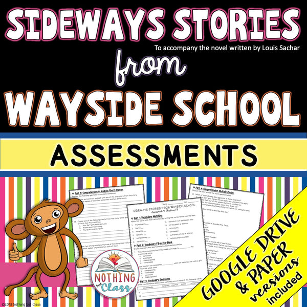 Sideways Stories from Wayside School: Tests, Quizzes, Assessments