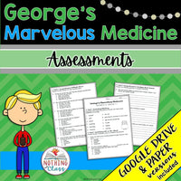 George's Marvelous Medicine: Tests, Quizzes, Assessments
