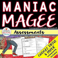 Maniac Magee: Tests, Quizzes, Assessments