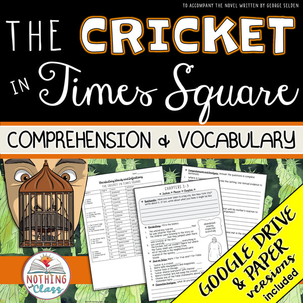 The Cricket in Times Square: Comprehension and Vocabulary