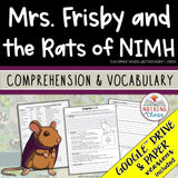 Mrs. Frisby and the Rats of Nimh: Comprehension and Vocabulary