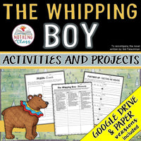 The Whipping Boy: Activities and Projects