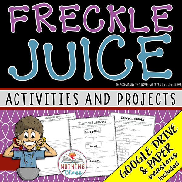 Freckle Juice: Activities and Projects