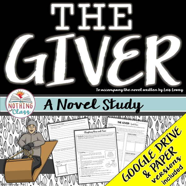 The Giver Novel Study Unit
