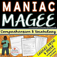 Maniac Magee: Comprehension and Vocabulary