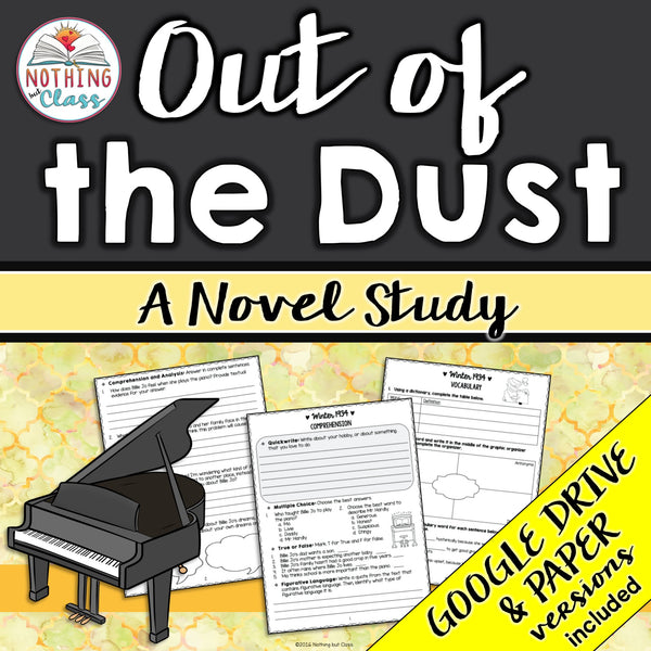 Out of the Dust Complete Novel Study Unit