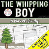 The Whipping Boy Novel Study Unit