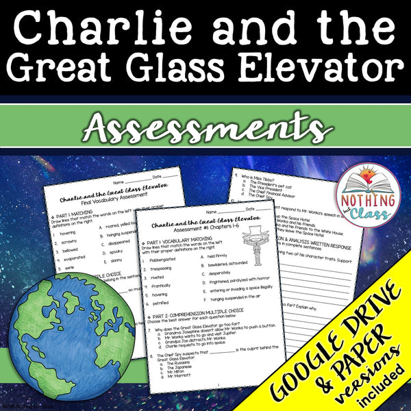 Charlie and the Great Glass Elevator: Tests, Quizzes, Assessments