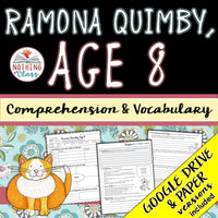 Ramona Quimby, Age 8: Comprehension and Vocabulary
