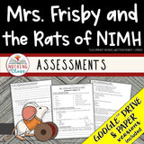 Mrs. Frisby and the Rats of Nimh: Tests, Quizzes, Assessments