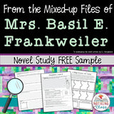 From the Mixed-up Files of Mrs. Basil E. Frankweiler Novel Study Free Sample