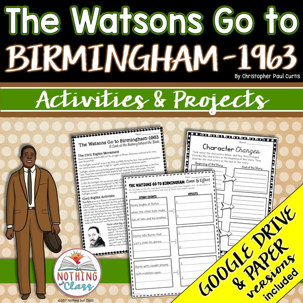The Watsons Go to Birmingham-1963: Activities and Projects