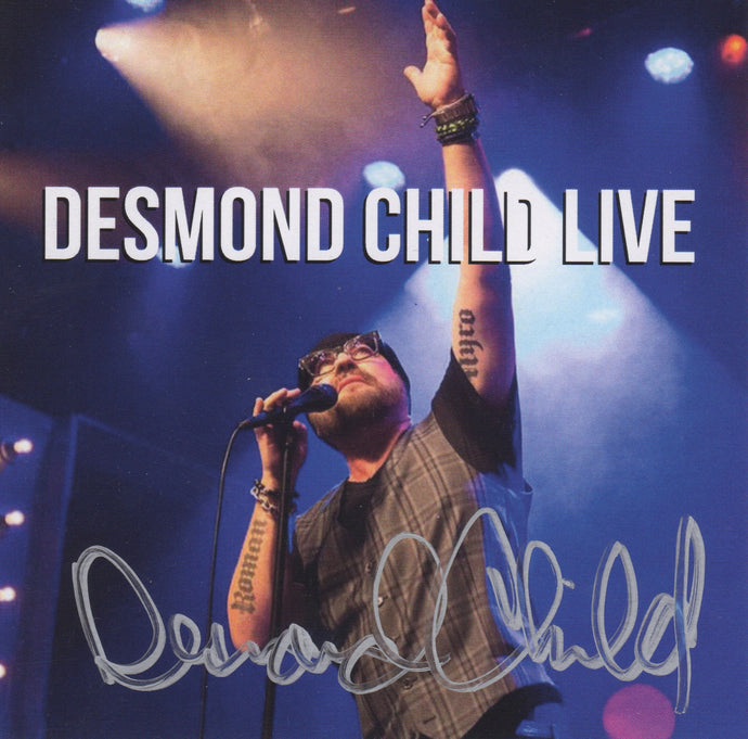 DESMOND CHILD LIVE Autographed CD