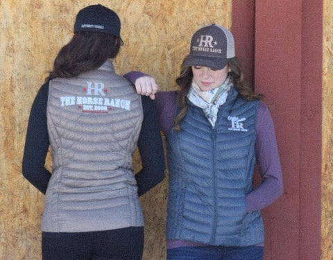 Ladies vests with The Horse Ranch logo