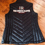 Ladies vest black with The Horse Ranch Logo