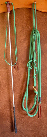 Horseman's stick and string and halter set