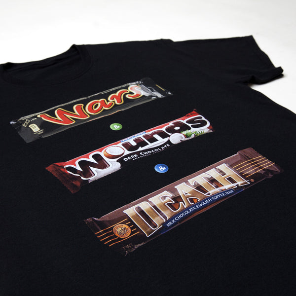 """BOX OF CHOCOLATES"" tee - black"