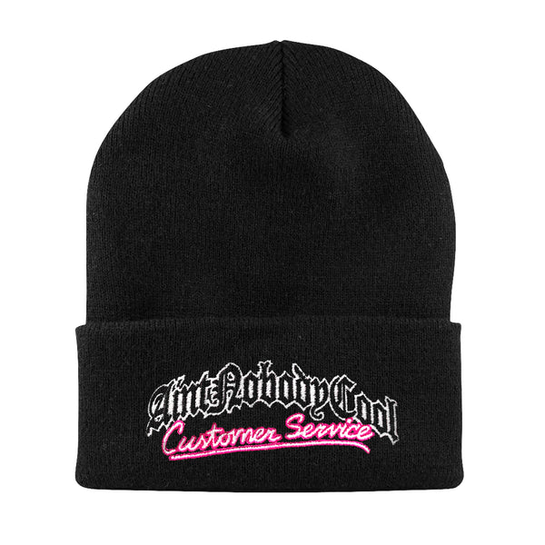 """CUSTOMER SERVICE"" beanie-black"