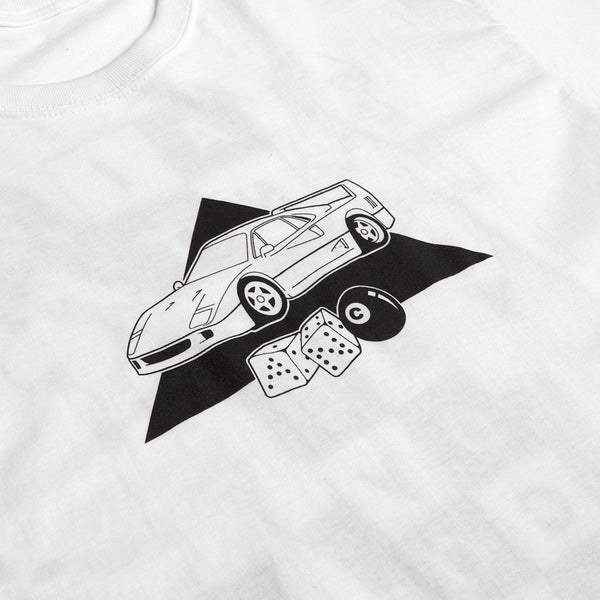 """FINISHERS"" tee - white"