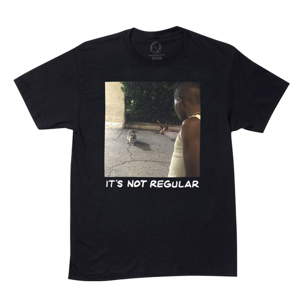 """NOT REGULAR"" tee - black"