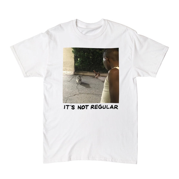 """NOT REGULAR"" tee - white"