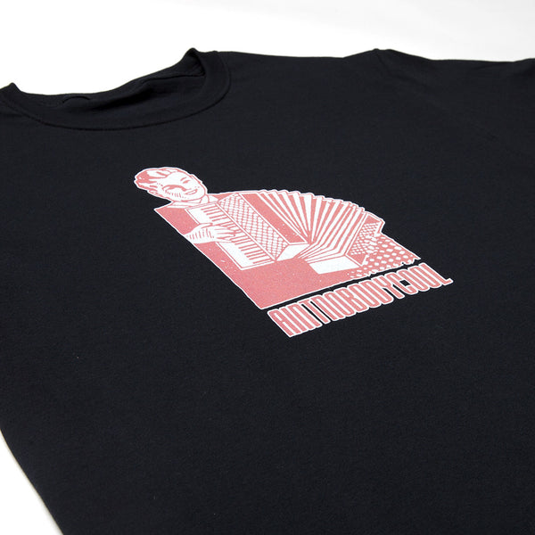 """ACCORDION BOY"" tee - black"