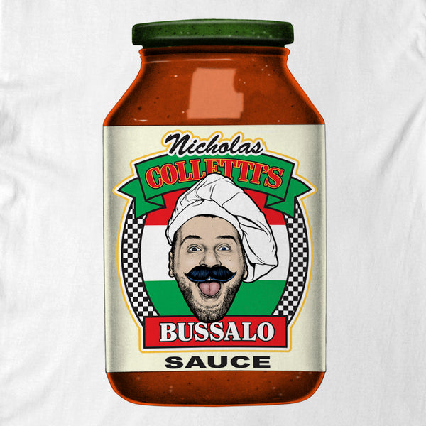 "Nick Colletti -  ""BUSSALO""  tee - white"