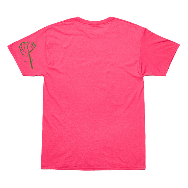 """DRAWN BY A 5 YEAR OLD"" tee - hot pink"