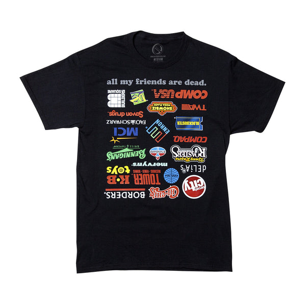 """DEAD FRIENDS"" tee - black"