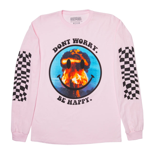 """DONTWORRY"" long sleeve - pink"