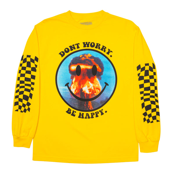 """DONTWORRY"" long sleeve - yellow"