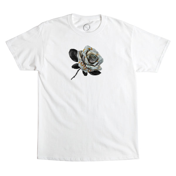 """MONEY ROSE"" tee - white"