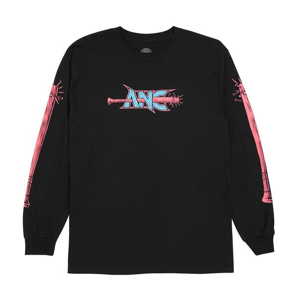 """CHAIN SNATCHER"" long sleeve tee - black"