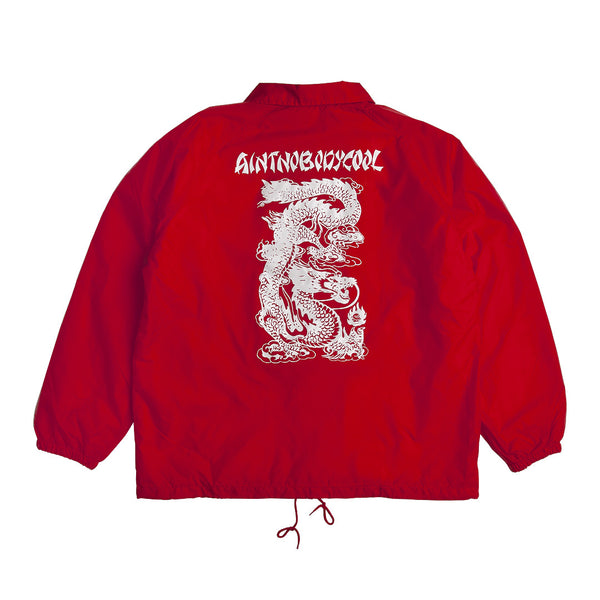 """TAKEOUT"" coaches jacket - red"