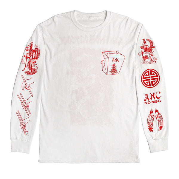 """TAKEOUT"" long sleeve - white"