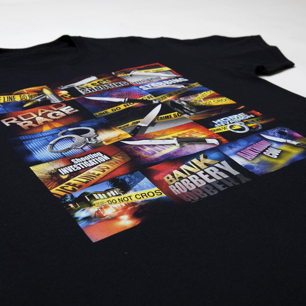 """THE NEWS"" tee - black"
