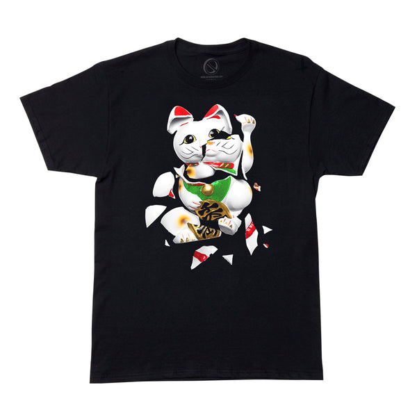 """UNLUCKY CAT"" tee - black"