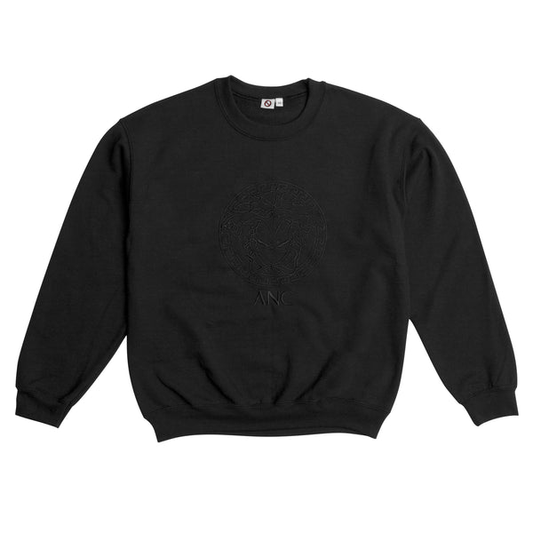 """VEG"" embroidered - crewneck sweatshirt - black"