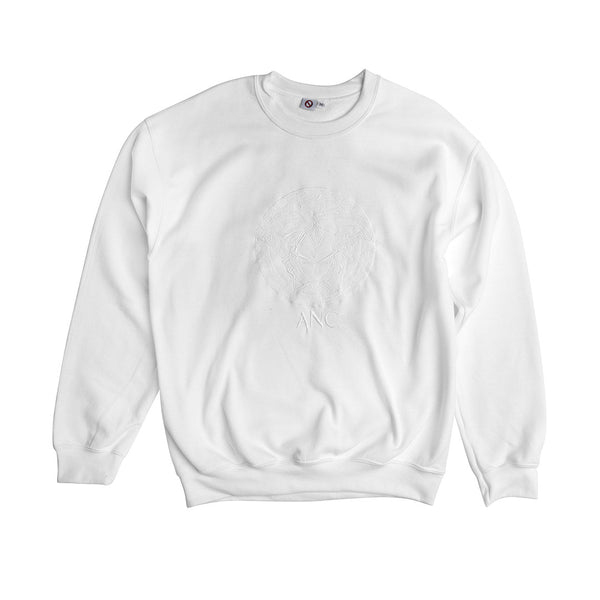 """VEG"" embroidered crewneck sweatshirt - white"
