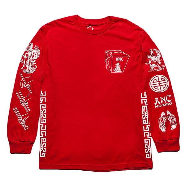"""TAKEOUT"" long sleeve - red"