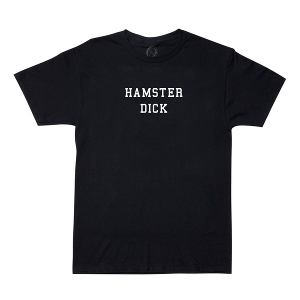"Nick Colletti ""HAMSTER DICK"" tee - black"