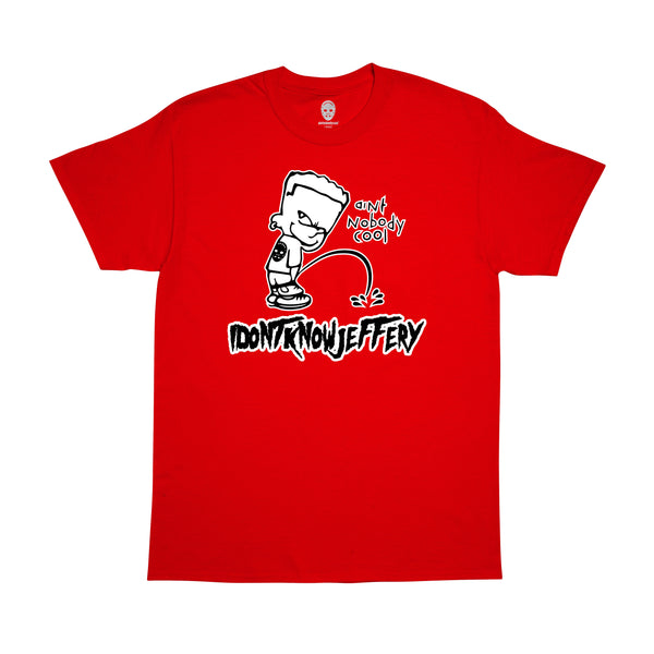 """IDONTKNOWJEFFERY "" tee - red"
