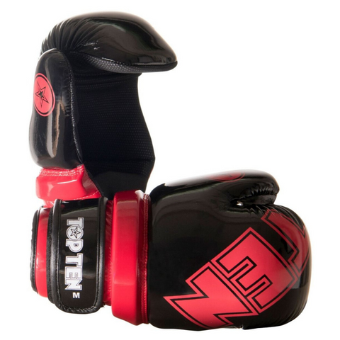 Pointfighter Glove TOP TEN - Glossy Black/Red