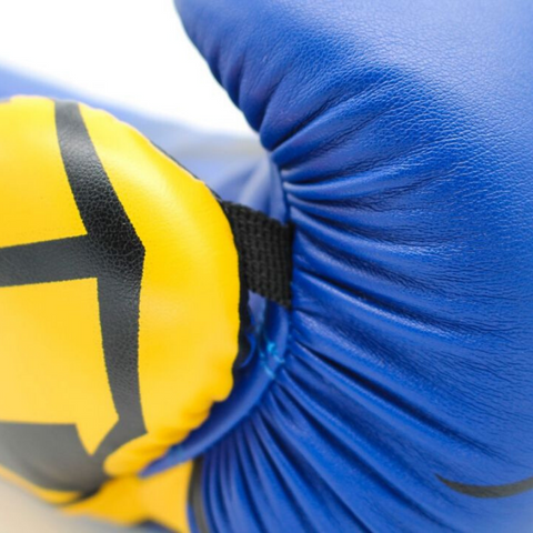 Boxing Gloves TOP TEN 'Hercules' - Blue/Yellow