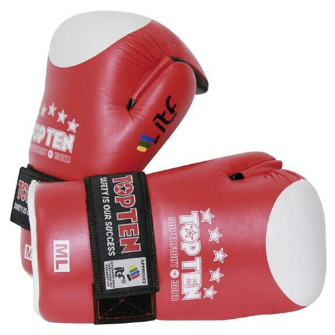 Open Hands Gloves TOP TEN 'ITF Superfight 3000' - Red