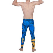 Compression Training TOP TEN Pant - Blue/Yellow 'Hercules