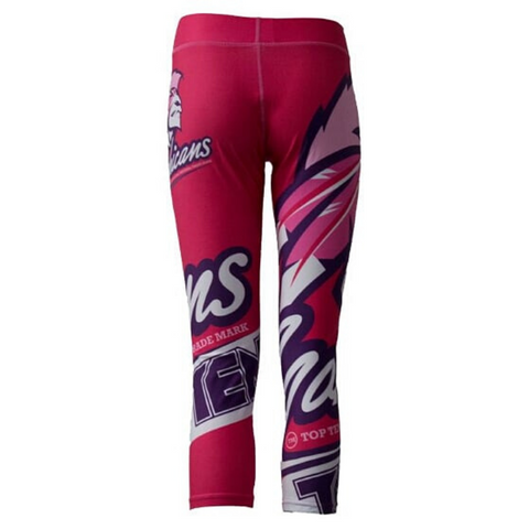 Compression Training TOP TEN Womens Capri Pant - Red 'Mohican'