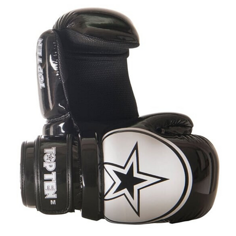 Pointfighter Glove TOP TEN 'STAR' - Black/White Glossy