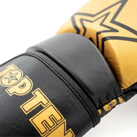 Boxing Gloves TOP TEN 'Wrist Star' - Black/Gold