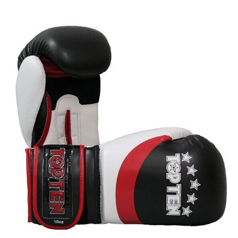 Boxing Gloves TOP TEN 'Stripe' - Black/Red/White